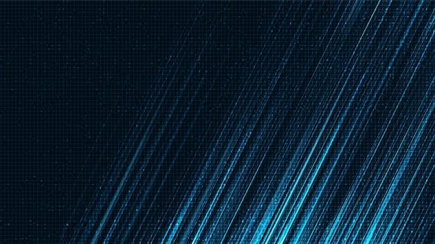 Super speed line-technologieachtergrond, digitaal en verbindingsconceptontwerp, vectorillustratie