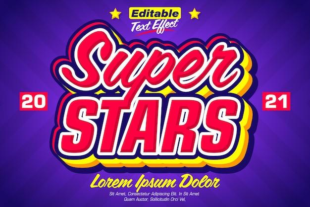 Super stars pop sticker-teksteffect