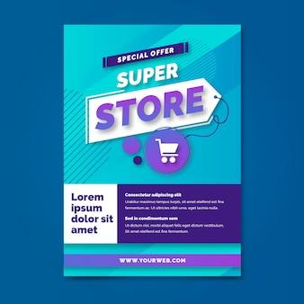 Super store gradient a5 flyer-sjabloon