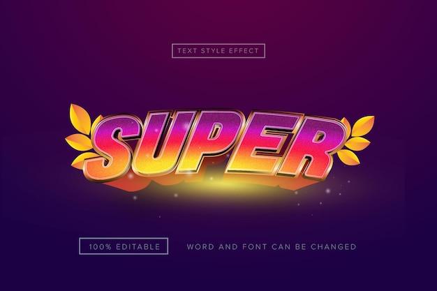 Super teksteffect van de regenboog