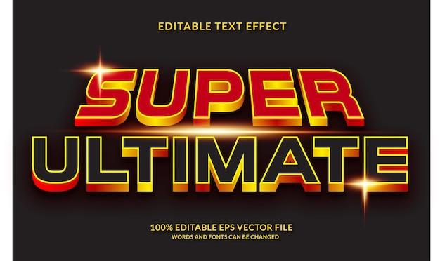 Super ultiem bewerkbaar teksteffect