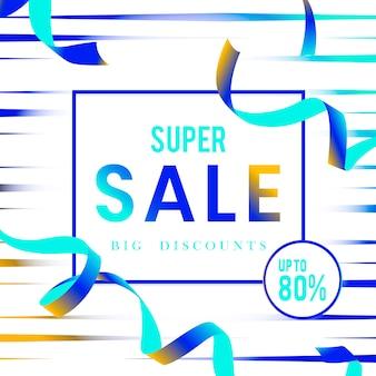 Super verkoop 80% korting teken vector