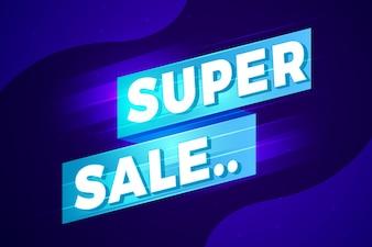 Super verkoop abstract teken ontwerp