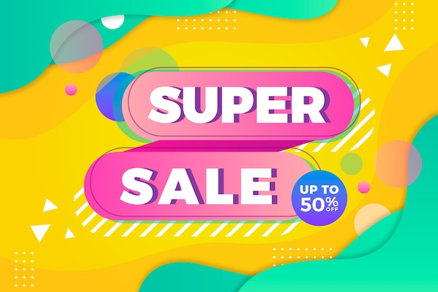 Super verkoop abstracte kleurrijke achtergrond