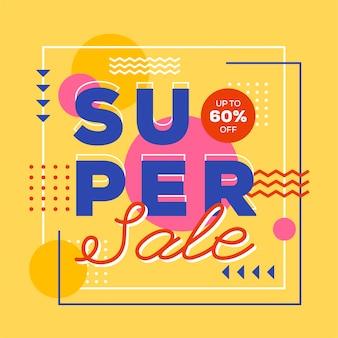 Super verkoop abstracte stijl als achtergrond