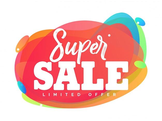 Super verkoop abstracte vectorillustratie