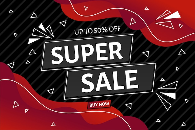 Super verkoop achtergrond concept