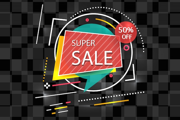 Super verkoop banner achtergrond