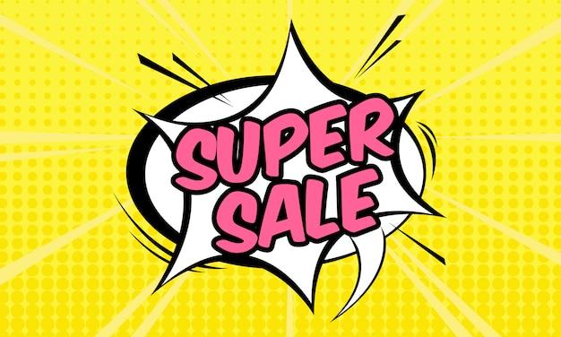 Super verkoop banner sjabloon