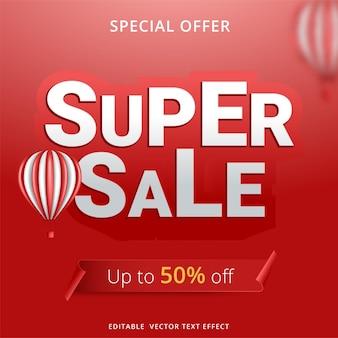 Super verkoop banner sjabloonontwerp