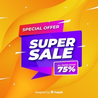 Super verkoop bannerontwerp