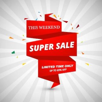 Super verkoop banners ontwerp