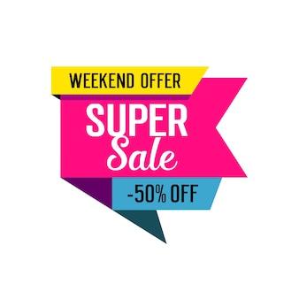 Super verkoop belettering op tag