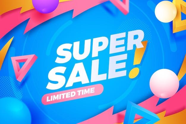 Super verkoop beperkte tijd achtergrond
