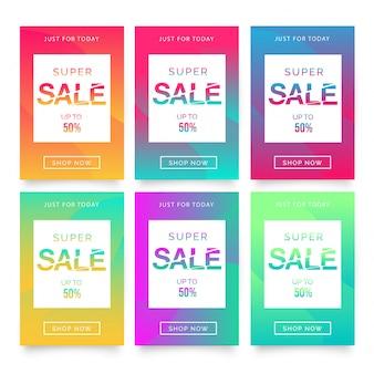 Super verkoop flyer sjabloon