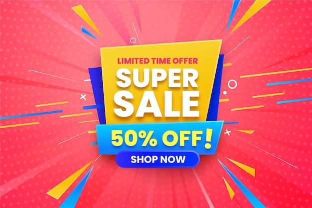 Super verkoop horizontale banner