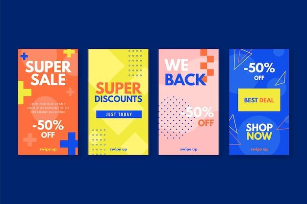 Super verkoop instagram-verhalen