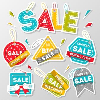 Super verkoop kleurrijke kortingsbanner