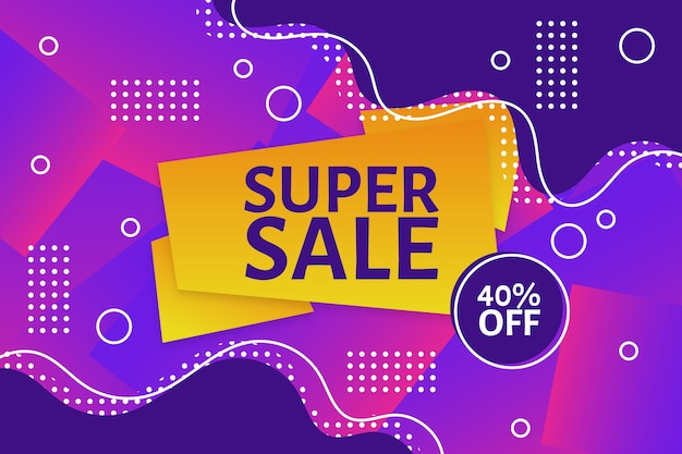 Super verkoop kleurrijke verkoop achtergrond
