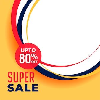 Super verkoop korting achtergrondontwerp