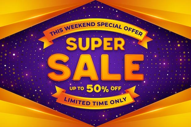 Super verkoop korting, promotie sjabloon voor spandoek