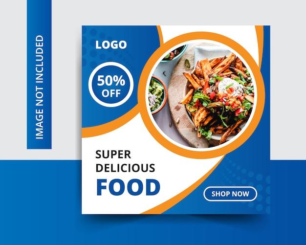 Super verkoop korting sociale media postontwerp