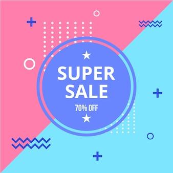Super verkoop memphis stijl achtergrond