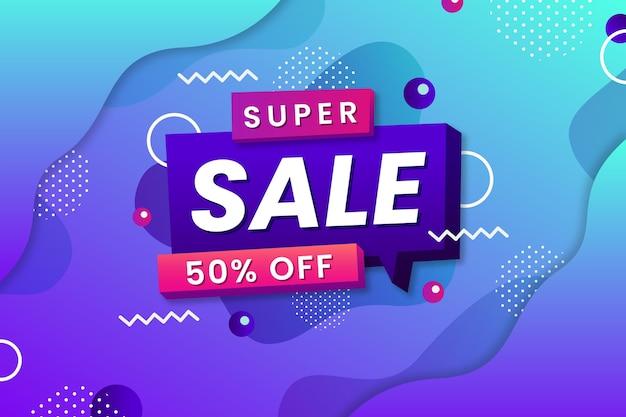 Super verkoop met speciale kortingsachtergrond