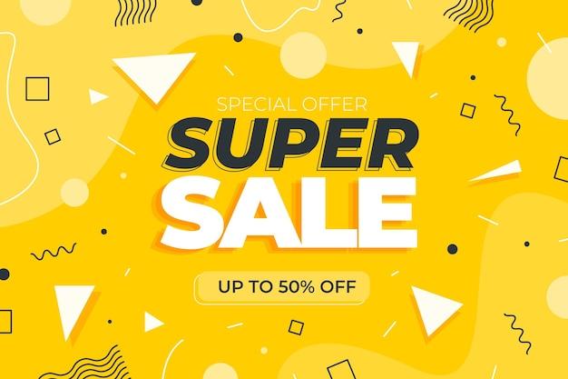 Super verkoop platte ontwerp banner