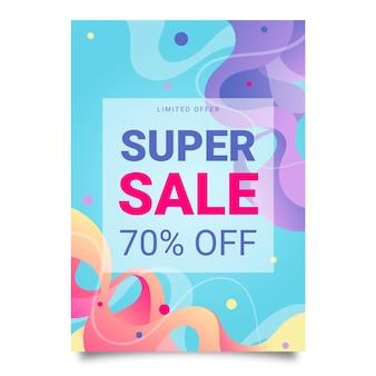 Super verkoop poster sjabloon Premium Vector
