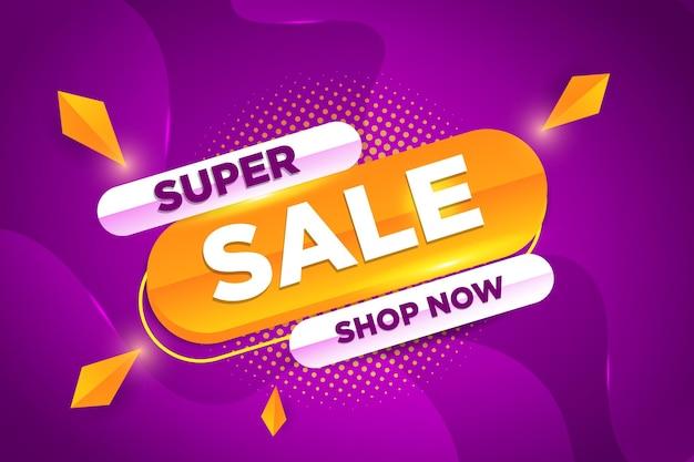 Super verkoop promotionele korting banner vector ontwerp