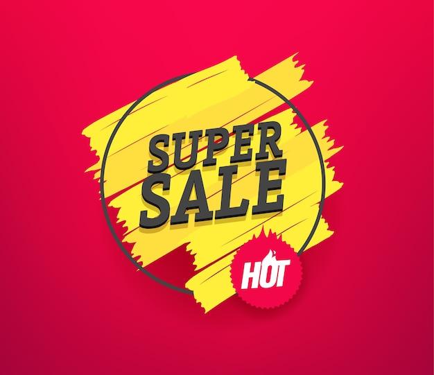 Super verkoop reclamebanner