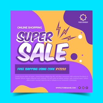 Super verkoop sjabloon folder