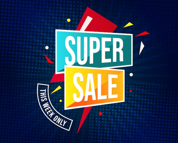 Super verkoop sjabloon voor spandoek