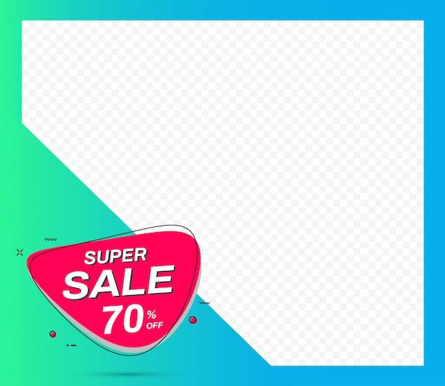 Super verkoop sjabloon