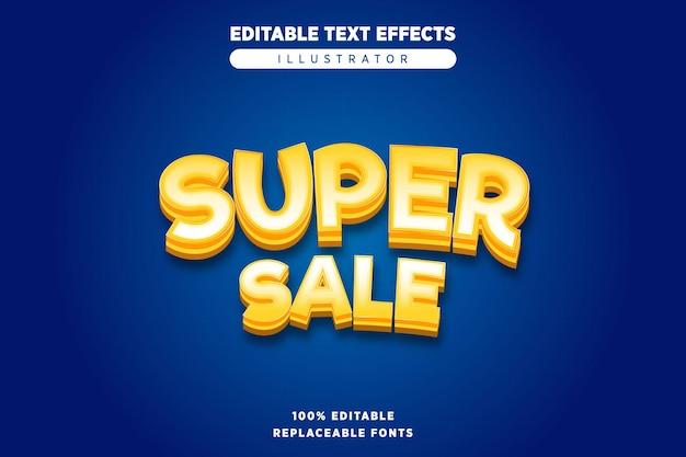 Super verkoop teksteffect bewerkbaar