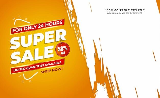 Super verkoop verkoop achtergrond met grunge ruimte