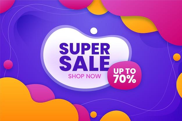 Super verkoopachtergrond met aanbieding