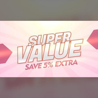 Super waarde promotionele korting en bieden bannermalplaatje