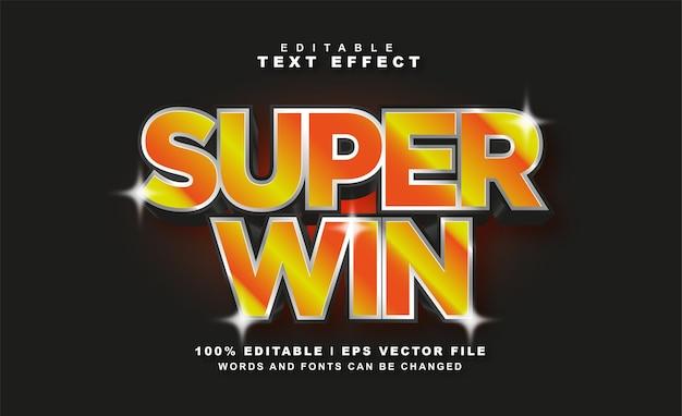 Super win teksteffect gratis eps vector