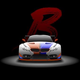 Supercar met raceauto