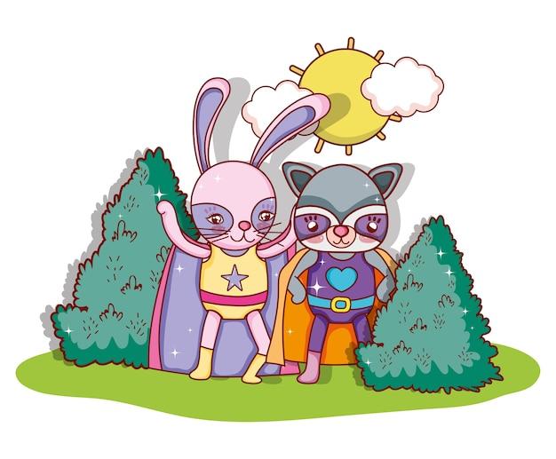 Superheld dieren tekenfilms