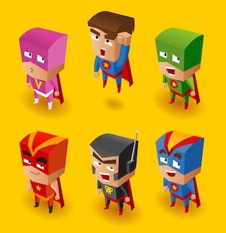 Superheld ingesteld