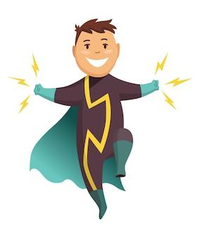 Superheld jongen stripfiguur.