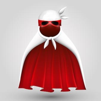 Superheld pak kunst creatief kostuum. vectorillustratie