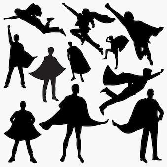 Superheld silhouetten