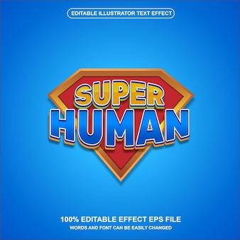 Superheld teksteffect vector