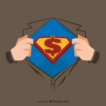 Superhero borst illustratie