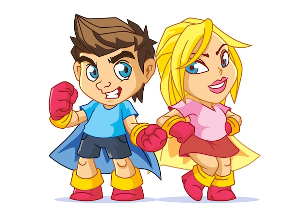 Superhero kids mascot design
