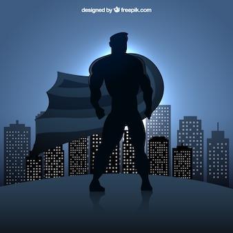 Superhero silhouet